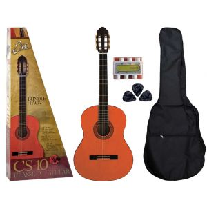 EKO CS10 PACK Chitarra Classica 4/4 pack da studio con borsa, accordatore pitch e plettri