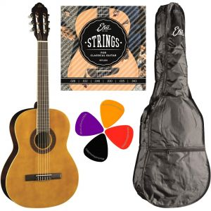 EKO CS10 Set Chitarra classica 4/4, Include Custodia, Plettri e Corde