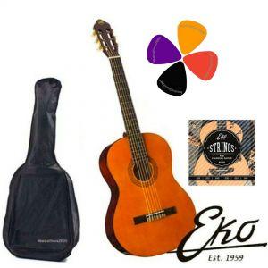 EKO CS10 Set Chitarra classica 4/4, Include Custodia, Plettri e Corde