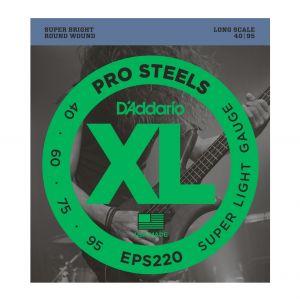 D'ADDARIO EPS220 - Muta per Basso Elettrico Pro Steels Super Light (040/095)