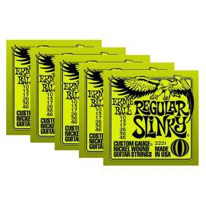 ERNIE BALL 2221 - Set di 5 Mute per Elettrica Regular Slinky (010/046)