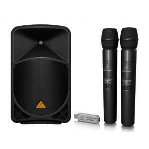 BEHRINGER Kit Karaoke EUROLIVE B112 MP3 / Doppio Palmare Wireless