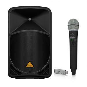 Behringer Kit Karaoke Eurolive B112 MP3 - Cassa Attiva 1000W / Palmare Wireless