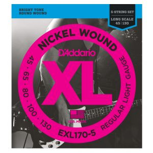 D'Addario EXL170-5 - Muta per Basso 5 Corde (045-130)