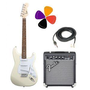 Fender Squier Bullet Strat con Tremolo Arctic White Pack