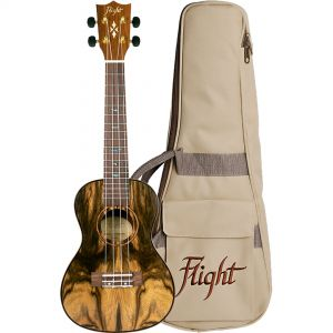 Flight Kit Ukulele Concerto Natural con Borsa e Libro