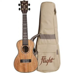 Flight DUC450 Kit Ukulele Concerto Natural con Borsa e Libro