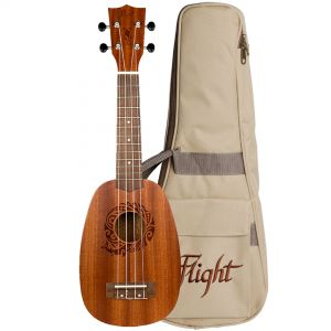 Flight Kit Ukulele Pineapple Soprano Natural con Borsa e Libro