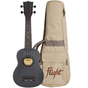 Flight Kit Ukulele Soprano Nero Blackbird con Borsa e Libro
