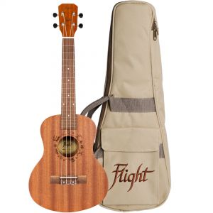 Flight NUT310 Kit Ukulele Tenore Natural con Borsa e Libro