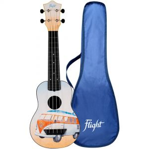 Flight TUS25 BUS Kit Ukulele Soprano Bus in ABS con Borsa