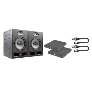 Focal Alpha 65 Kit - Coppia Monitor con Cavi e Pannelli Fonoassorbenti