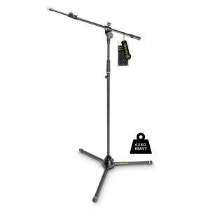Gravity MS 4322 HDB - Supporto per microfono, treppiede, braccio telescopico a 2 punti