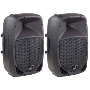 Go-Sound 8A Cassa Acustica (Coppia) Amplificata Attiva 320 Watt DJ karaoke
