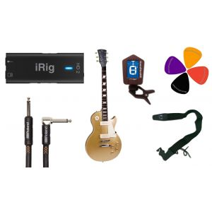 Guitar Recording Pack: iRig HD2 / Chitarra Elettrica Tipo Les Paul / Accessori