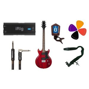 Guitar Recording Pack: iRig HD2 / IBANEZ GAX30 TR / Accessori