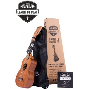 Kala LTP-S Kit Ukulele Soprano Learn to Play Starter Custodia/App Gratuita