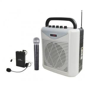 Karma BM 861MP3-B Cassa Diffusore Amplificato 40W Portatile con 2 Radiomicrofoni