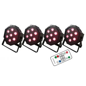 KARMA Stage Lighting Set 4 LED PAR28 Bundle