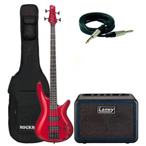 Ibanez SR300EB Candy Apple Pack con Combo Laney Cavo e Borsa