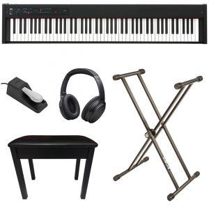 Korg D1 Nero Home Set Pianoforte Digitale 88 Tasti con Accessori