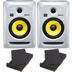 KRK RP6 Rokit G3 W Coppia Monitor Studio Attive DJ 70W + Pad Isolante
