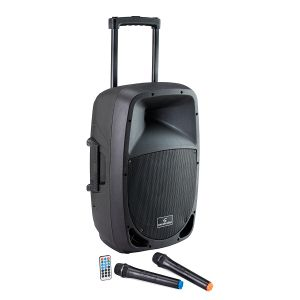 Soundsation Cassa 12 Impianto audio Portatile a Batteria, Trolley, MP3/Bluetooth 800W dj karaoke