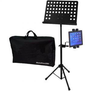 Leggio Musicale Professionale Supporto Universale Tablet iPad Asta Microfonica