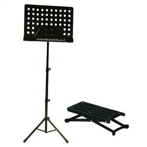 Kit Leggio Musicale con Poggiapiedi per Chitarristi