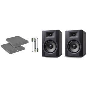 M-Audio BX5 D3 Kit - Coppia Monitor con Cavi e Pannelli Fonoassorbenti