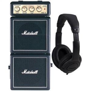 Marshall MS4 Mini Amplificatore Portatile a Batteria Pile per Chitarra con Cuffie