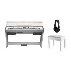 Medeli CDP 5200 WH Set - Pianoforte Digitale Bianco / Panchetta / Cuffie