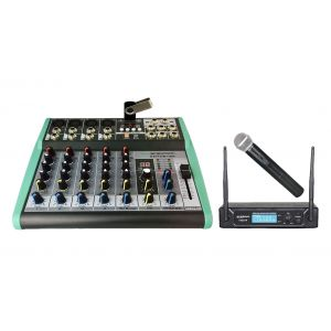 ZZIPP KIT Mixer 6Ch, MP3, DSP e Bluetooth / Radiomicrofono Gelato