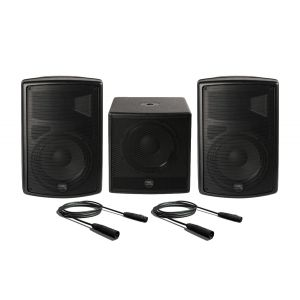 Montarbo FiveO D10A (Coppia) con D12A Sub Impianto Audio DJ Completo Casse Karaoke