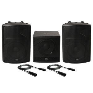 Montarbo FiveO D15A (Coppia) con D12A Sub Impianto Audio DJ Completo Casse Karaoke