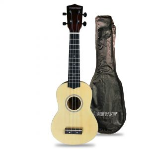 Flight Kit Ukulele Soprano Natural con Borsa e Libro