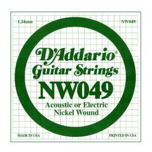 D'ADDARIO NW049 - Singola per Elettrica o Acustica (049)