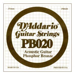 D'ADDARIO PB020 - Singola per Acustica Phosphor Bronze (020)