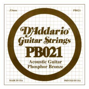 D'ADDARIO PB021 - Singola per Acustica Phosphor Bronze (021)