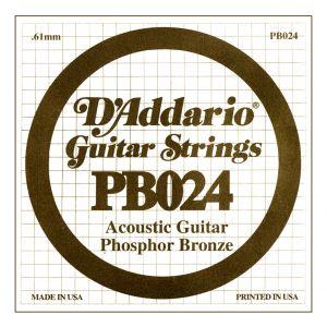 D'ADDARIO PB024 - Singola per Acustica Phosphor Bronze (024)