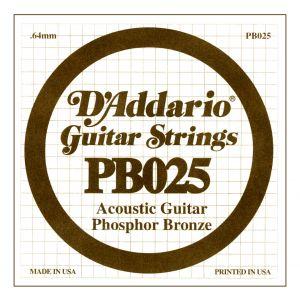 D'ADDARIO PB025 - Singola per Acustica Phosphor Bronze (025)