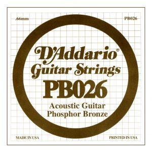 D'ADDARIO PB026 - Singola per Acustica Phosphor Bronze (026)