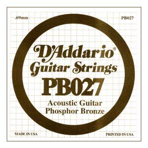D'ADDARIO PB027 - Singola per Acustica Phosphor Bronze (027)