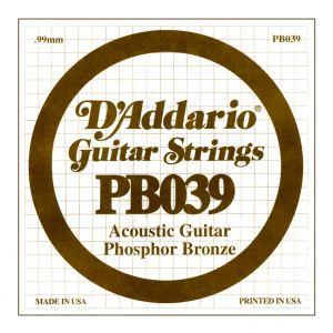 D'ADDARIO PB039 - Singola per Acustica Phosphor Bronze (039)