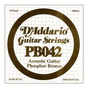 D'ADDARIO PB042 - Singola per Acustica Phosphor Bronze (042)