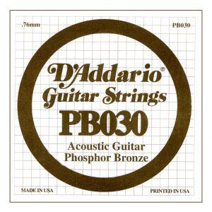 D'ADDARIO PB030 - Singola per Acustica Phosphor Bronze (030)