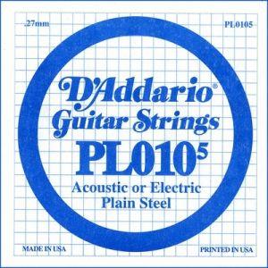 D'Addario PL010-5 - Corda Singola per Elettrica / Acustica (0105)