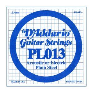 D'ADDARIO PL013 - Singola per Acustica o Elettrica Plain Steel (013)
