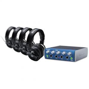 Presonus HD9 / HP4 Pack Kit Monitoraggio con 4 Cuffie e Amplificatore