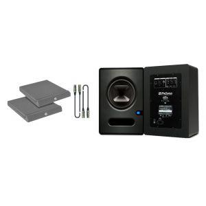 Presonus Sceptre S8 Kit - Coppia Monitor con Cavi e Pannelli Fonoassorbenti